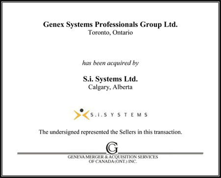 Genex Systems Professionals Group Ltd.