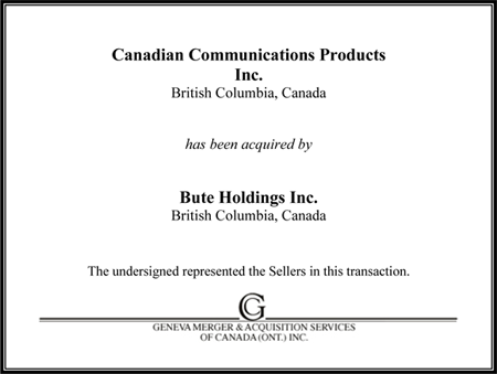Canadian Communication Products Inc.