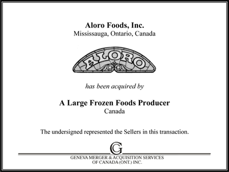Aloro Foods, Inc.