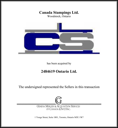 Canada Stamping Ltd.
